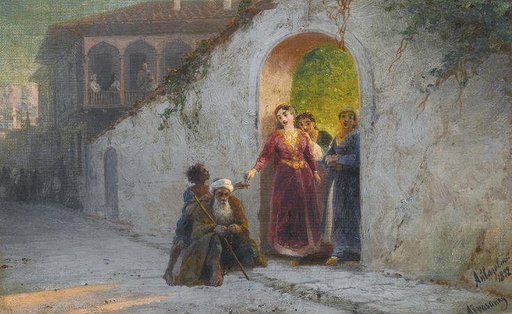 Street in Bakhchisarai, oil on canvas, c.1892 - ivan aivasovsky