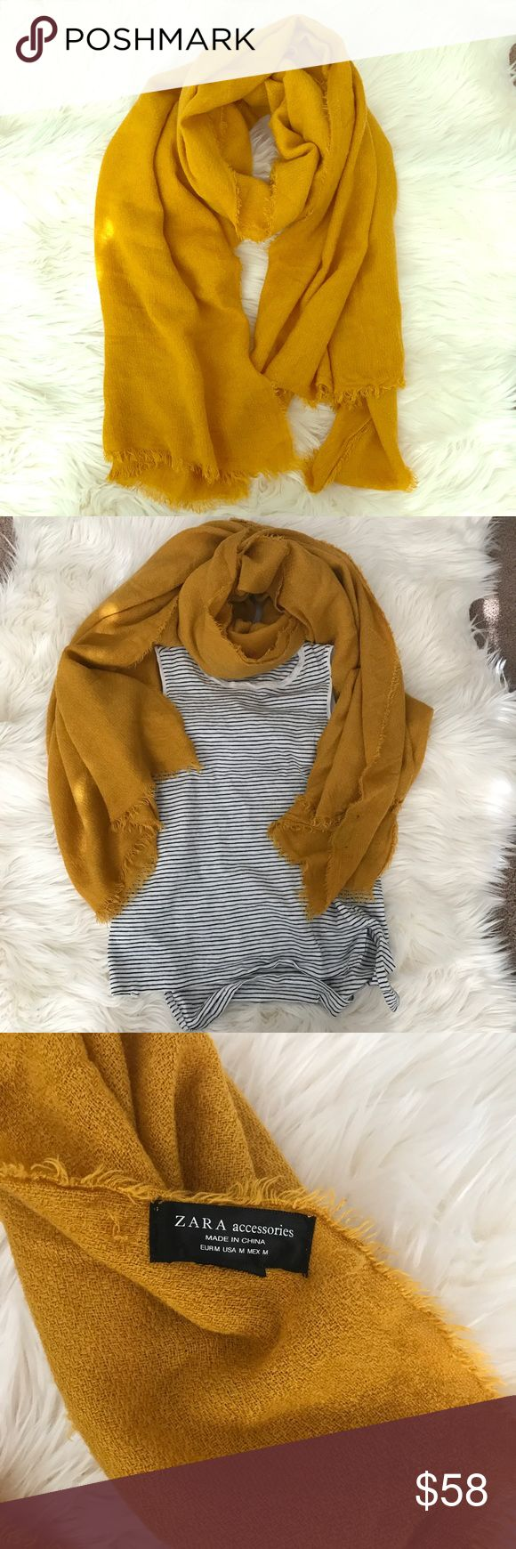 Zara Gold/Mustard Color Warm Scarf Zara Gold/Mustard Color Warm Scarf. Worn once. Super cute to add a pop of color to a plain outfit. Zara Other