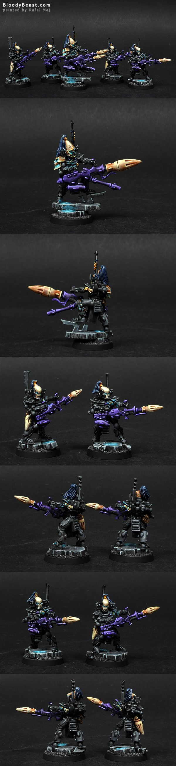 Eldar Ulthwe Dark Reapers painted by Rafal Maj (BloodyBeast.com)