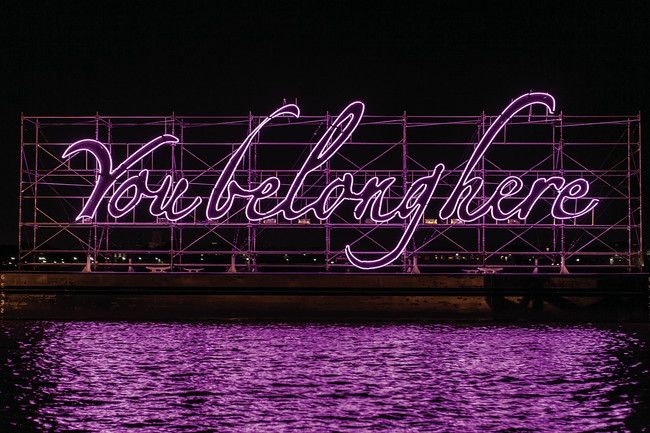 'You Belong Here' Neon installation, 2014 by artist Tavares Strachan in New Orleans