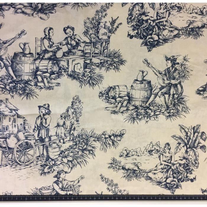 toile jouy coton grande largeur 280