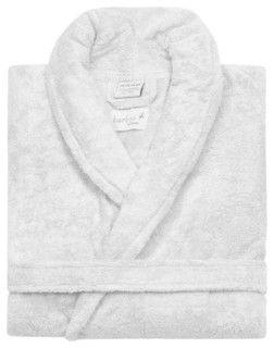 Kassatex Bamboo Bathrobe, White - contemporary - bath and spa accessories - by Kassatex