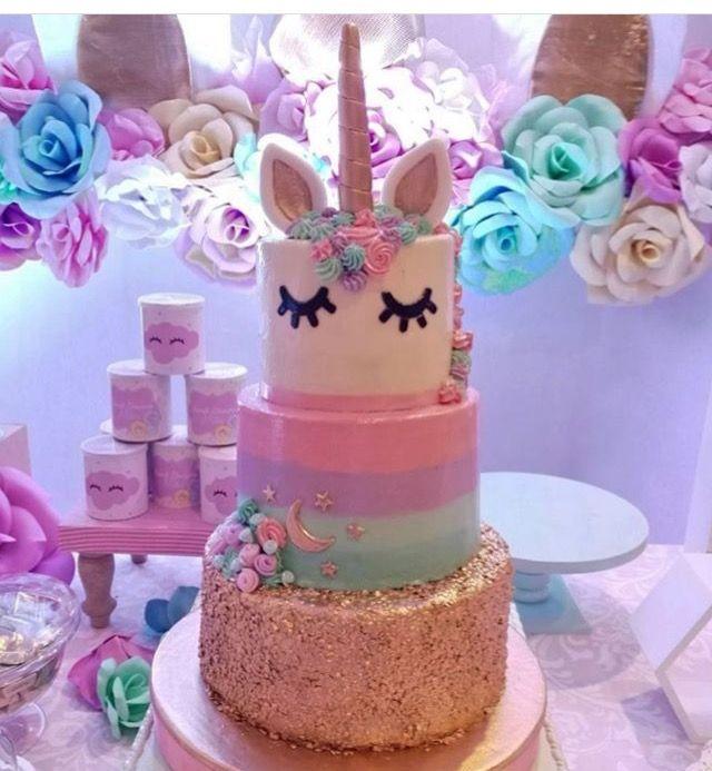 3 tier Unicorn cake! Gorgeous! -£H