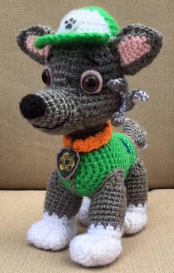 Paw Patrol crochet pattern Marshall Chase Skye Rubble