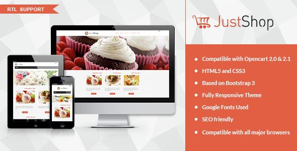 JustShop - Cake Bakery #OpenCart Theme via @medosadvert
