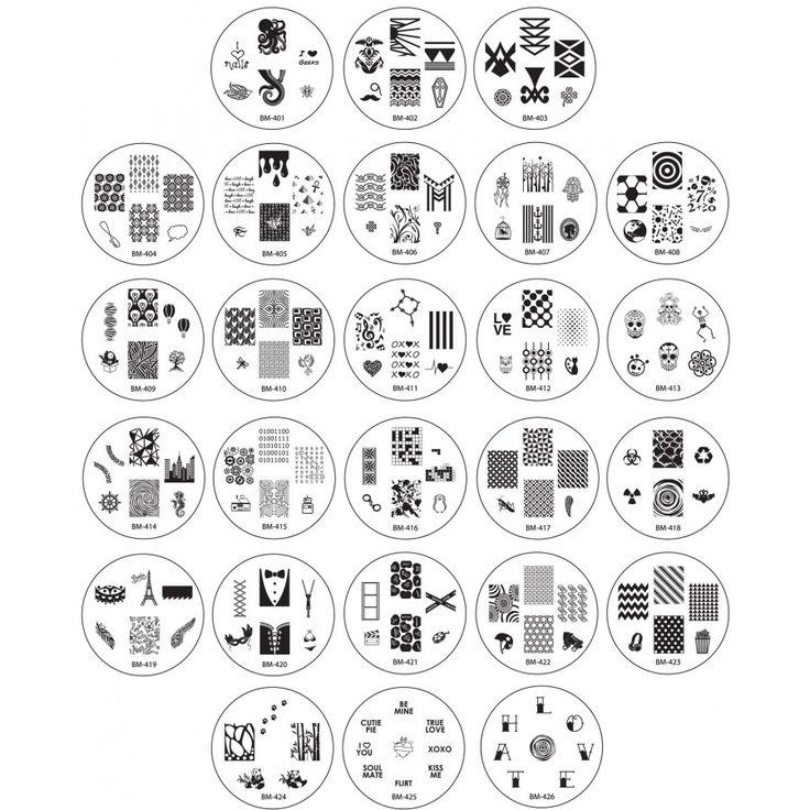 Nail Stamping Plates | Nail Plates | Nail Stamping Designs bundle monster 2013 create your own fullset