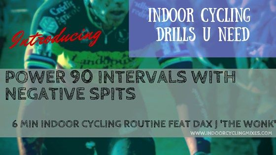 Indoor Cycling and Spin Class Drills and Routines - 90 sec Power Intervals with Negative Splits