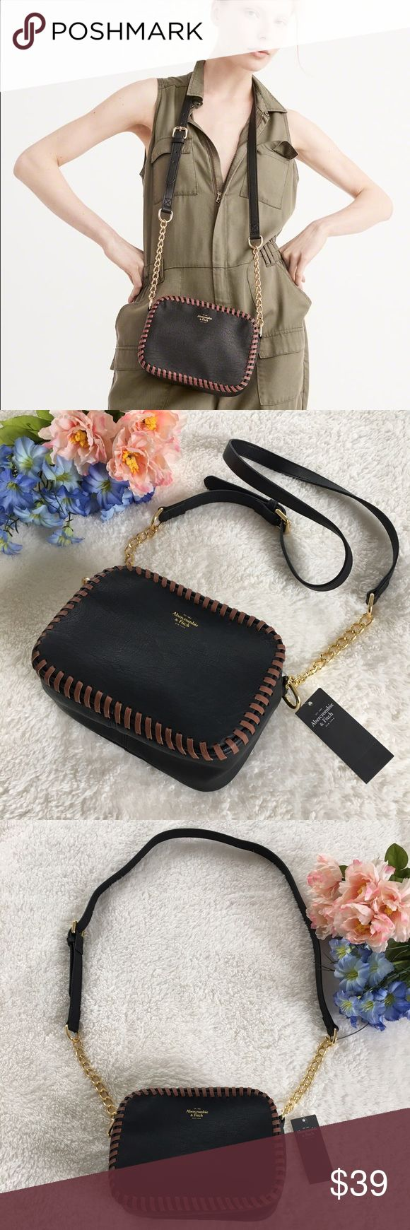 Abercrombie✨Chain Crossbody Bag✨ Very cute Abercrombie chain crossbody bag!  New with tags, never used!  Stitched design throughout with adjustable strap and zipper closure.  Perfect size and lightweight. Abercrombie & Fitch Bags Crossbody Bags