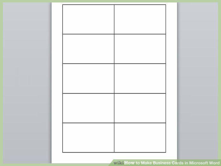 Klassische Visitenkarten Vorlage Word 10 Pro Blatt Mit Grau