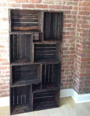 Las 25 mejores ideas sobre madera reciclada en pinterest y for Diseno de muebles con cajones de verduras