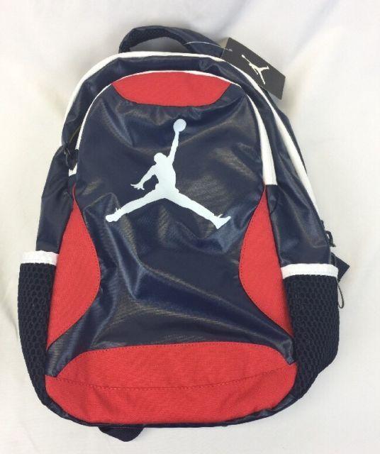 wholesale dealer 48896 8d415 Nike Air Jordan Youth Kids Back Pack 16 x 9 x 6 8A1807-695 New Obsidian    eBay