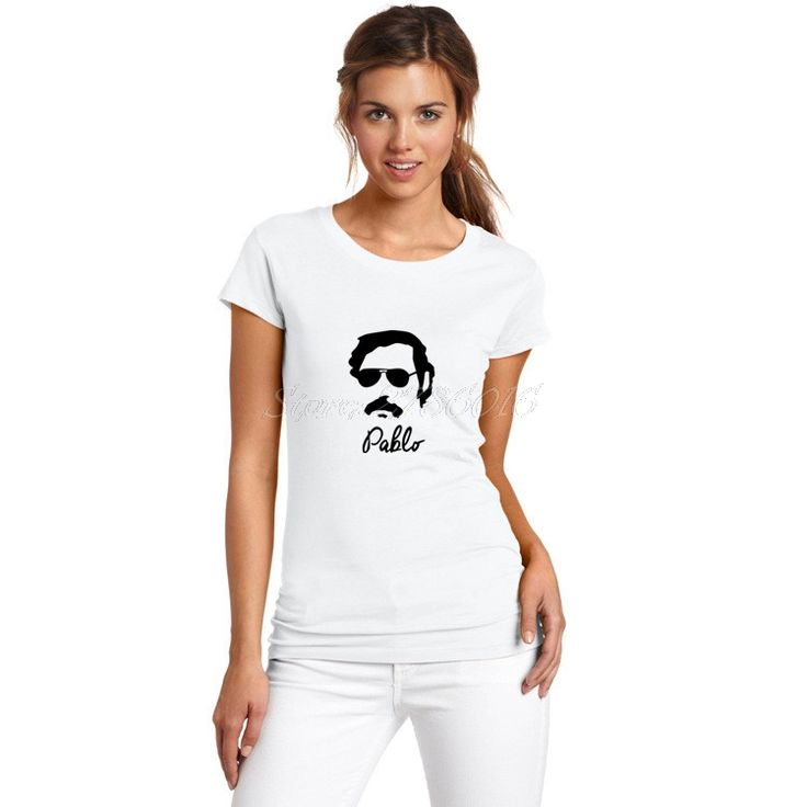 >> Click to Buy << Women Pablo Escobar Sunglasses Famous Narcos Colombian Gangster Drugas T-Shirt Lady Clothes T Shirt short sleeve Girl W0227002 #Affiliate