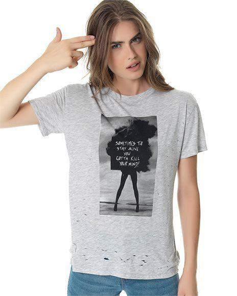 Μπλούζα με σκισίματα