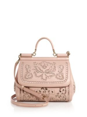 Dolce & Gabbana - Sicily Medium Embroidered Top-Handle Satchel