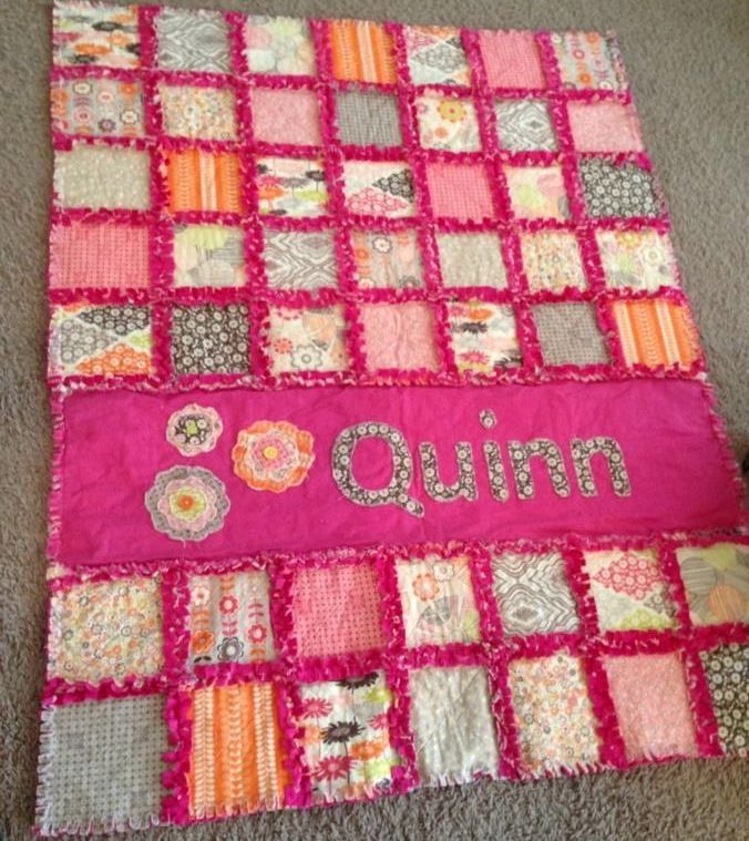 My friend Christen finally decided to have a baby girl, which meant that I could finally make a quilt for a girl! I decided to try out a mi...