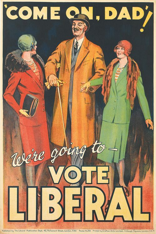 I love this poster from 1929. First election with universal suffrage for over 21s.