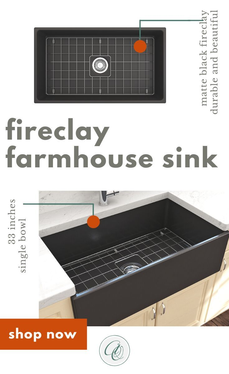 Bocchi Contempo 33 Matte Black Fireclay Single Bowl Farmhouse Sink W Grid In 2020 With Images Farmhouse Sink Fireclay Farmhouse Sink Sink
