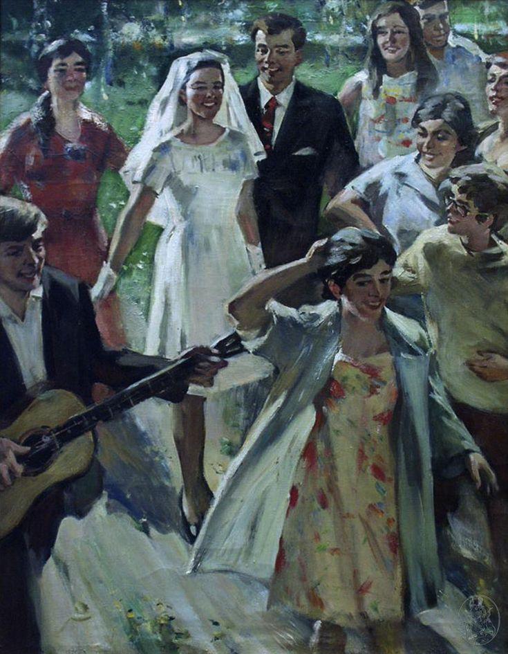 Деревенская свадьба» Ломакин Олег Леонидович (1924-2010)  1960-е гг.
