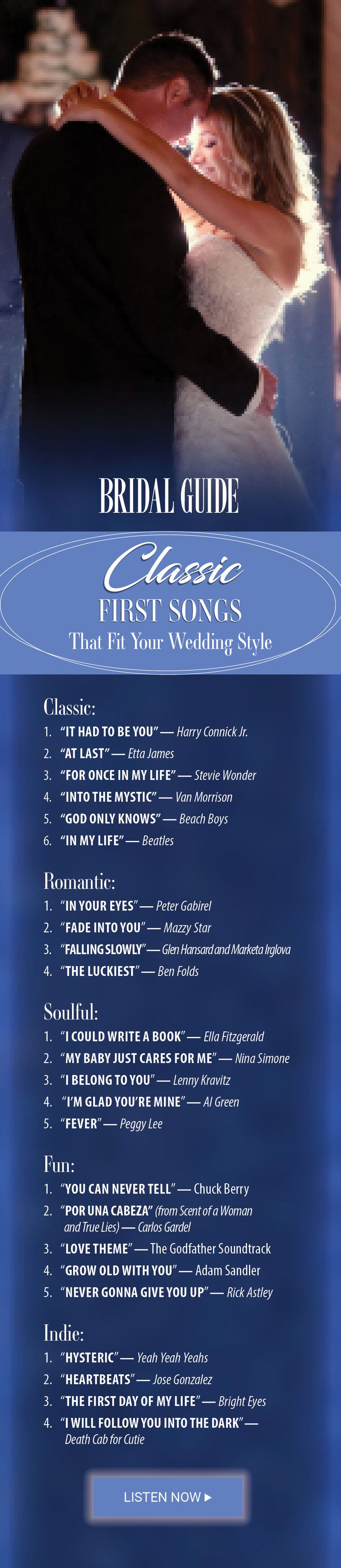 Double wedding soundtrack - Classic First Dance Songs That Fit Your Wedding Style