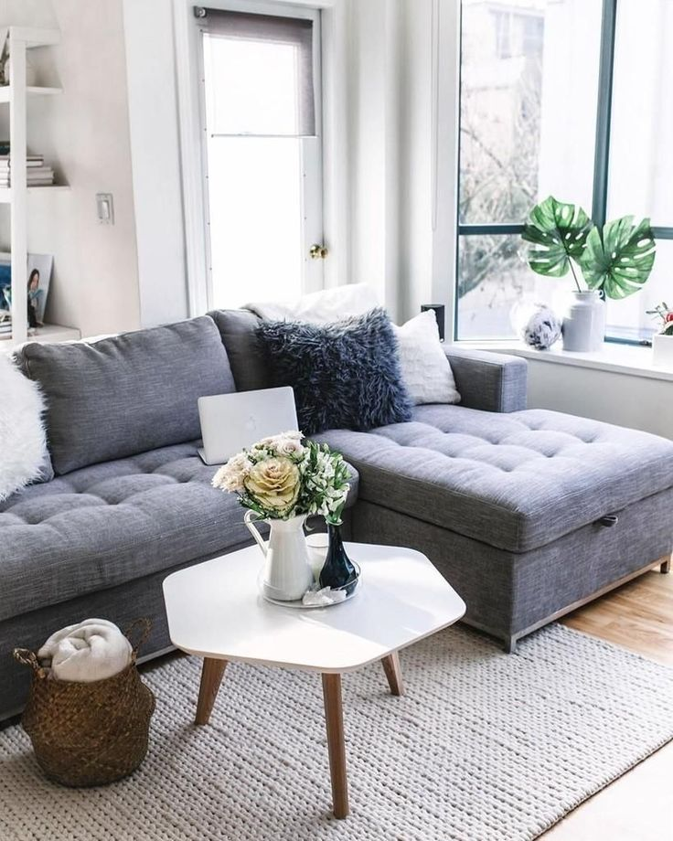Gray Sofa Bed, Right Sectional, Metal Legs | Article Soma Modern Furniture