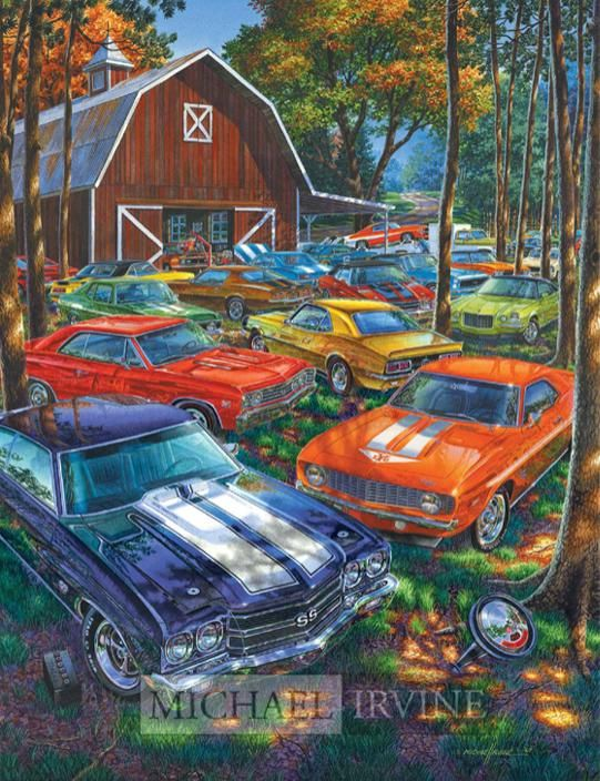 8 curated michael irvine fine auto art chevrolet for Painting my car