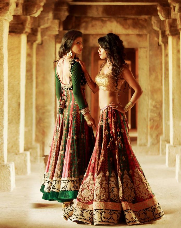 Gorgeous lovely #lehengacholi collections