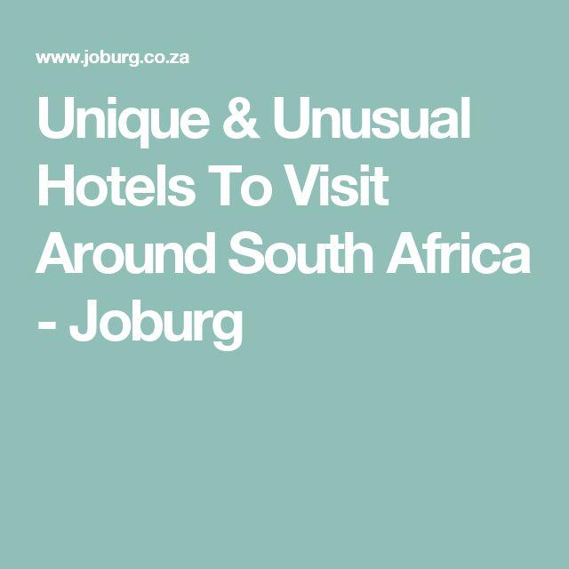 Unique & Unusual Hotels To Visit Around South Africa - Joburg