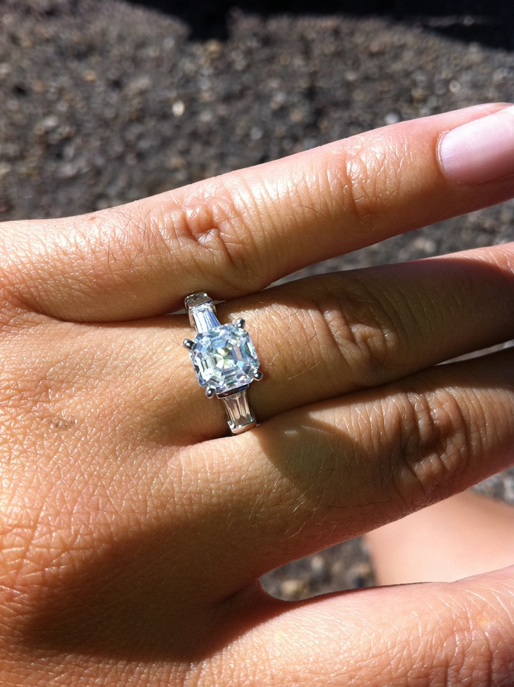 This is my asscher engagement ring.  He did good.