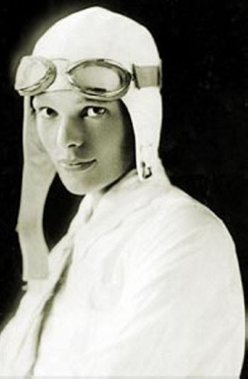 Amelia Earhart. Strong independent woman who impressed Schiap.