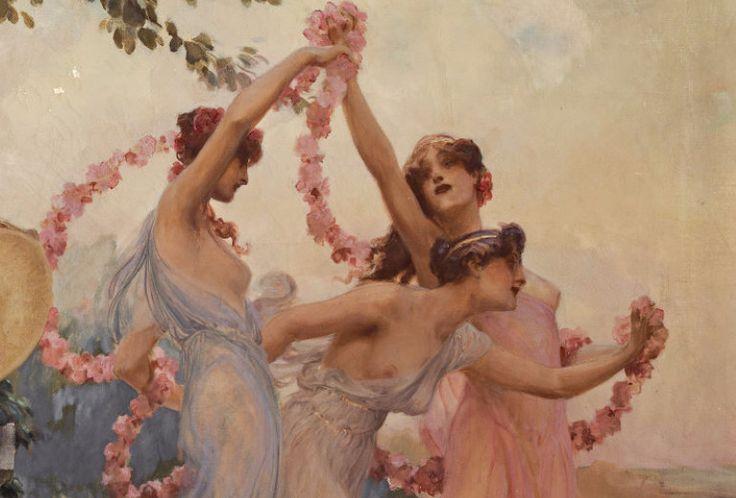 "simena: "" Alois Hans Schram - The spring festival (detail) """