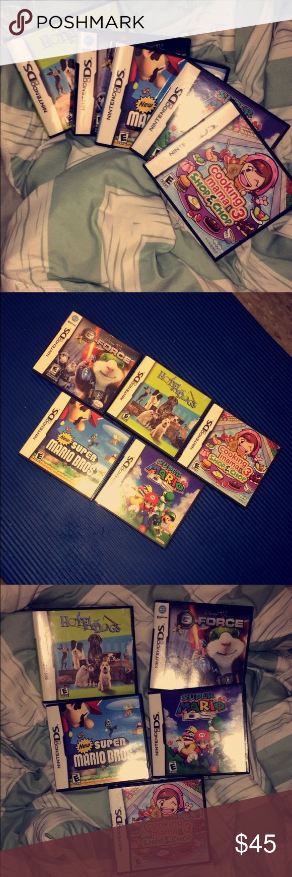 Nintendo Games Super Mario bro's/ Mario Bro's/ Cooking Momma 3/ Hotel for Dog's/ G-force Nintendo Other