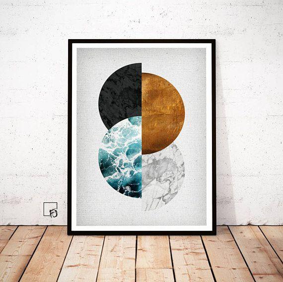 Kupfer Wandkunst, Kupfer-Druck, Kupfer Kunst, geometrische drucken, Kupfer Poster, geometrische Kunst, abstrakte Kunst, abstrakten Print, printables