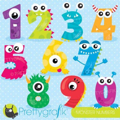 monsters numbers prettygrafik - Buscar con Google