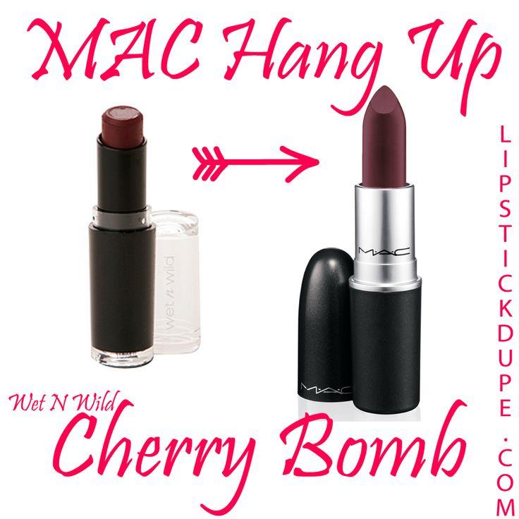 MAC Hang UpWet N Wild Mega Matte LipstickCherry Bomb www.lipstickdupe.com