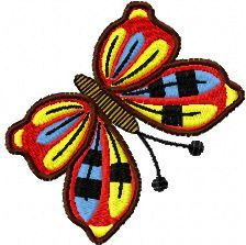 butterfly free red machine embroidery design. Machine embroidery design. www.embroideres.com