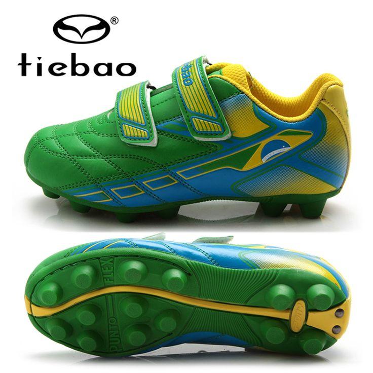 TIEBAO Professional Children Futebol Soccer Shoes Boys Football Boots Outdoor Anti-Slip AG Soles Soccer Cleats Chuteira Futebol