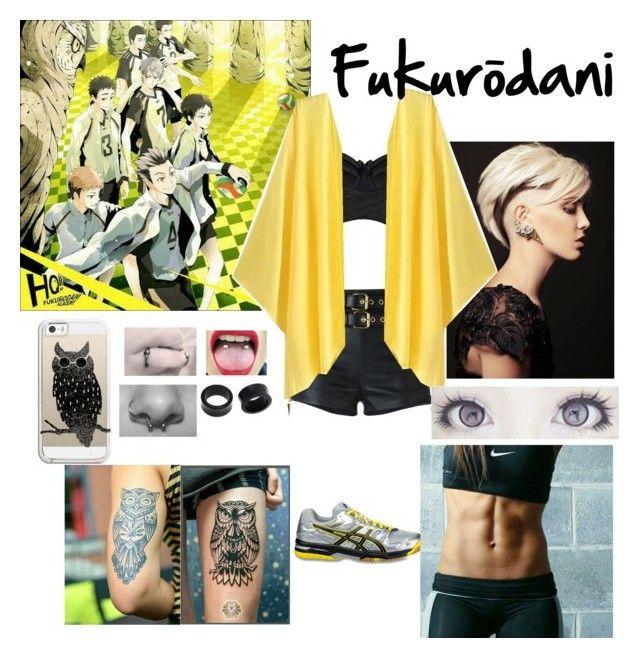 Haikyuu/Fukurōdani by erenshi03 on Polyvore featuring polyvore Giuseppe Zanotti Bordelle NOVICA Casetify Asics fashion style clothing
