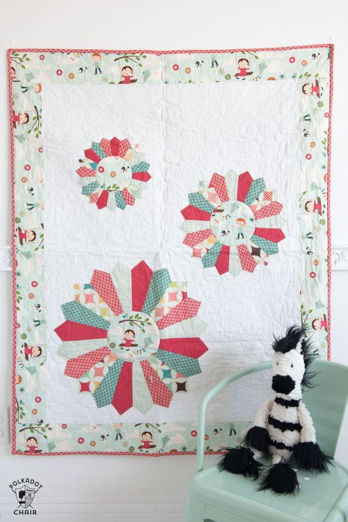 Dresden Burst Baby Quilt Quilt Idea Projects Pinterest Baby