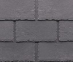 Compression Molded Slate Roof, Dover Grey, Inspire Roofing Products