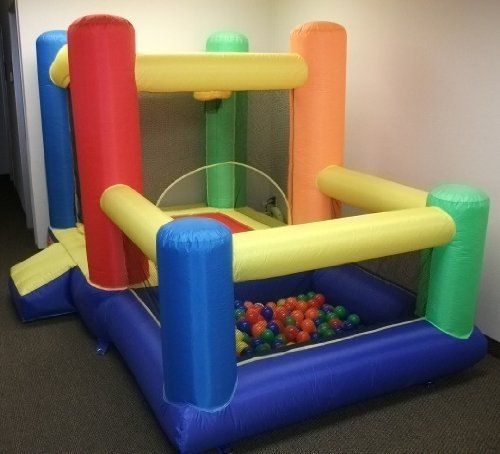 """My Bouncer Little Castle 96"""" L x 118"""" W x 72"""" H Bounce House Bopper w/ Built-in Ball Pit; Hoop & Step (Large Floor Space Required !!! Other Models & Sizes Available, Sold thru Separate Amazon Listing) by My Bouncer. $189.95. Manufactured exclusively for CMS with """"Phthalate Free"""" non-PVC Puncture Resist Nylon Material, In 6 Bright Colors: Red, Yellow, Orange, Blue, Green & Purple. This Unique Fabric similar (but in much thicker grade) to one used to build Camping Tent,..."""