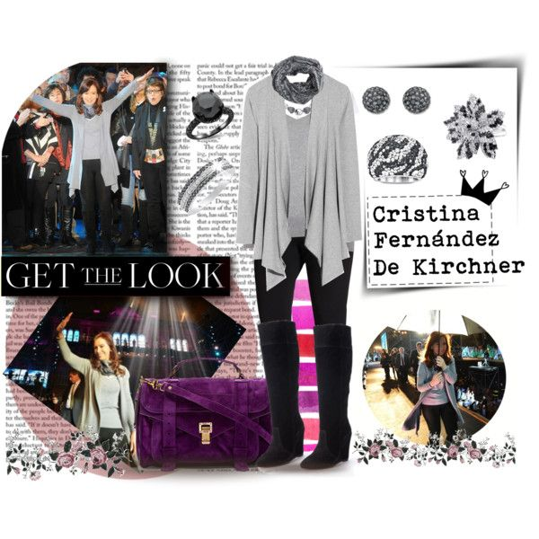 """GET THE LOOK: Cristina Fernández de Kirchner, President of Argentina"" by val-gab on Polyvore"