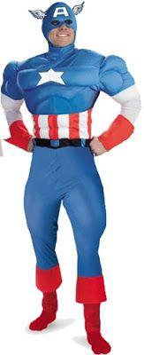 Sewa Kostum Dewasa Superhero Captain America