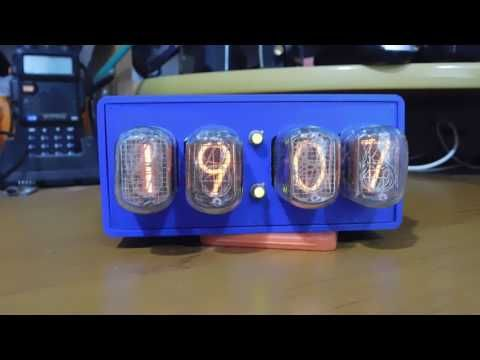Nixie Clock on ESP8266 module with synchronization with NTP