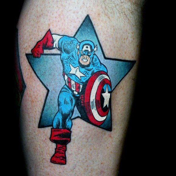 70 Captain America Tattoo Designs For Men Superhero Ink Ideas Captain America Tattoo Tattoo Designs Men Marvel Tattoos
