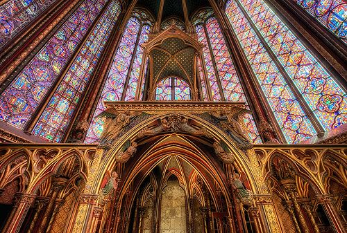Sainte+Chapelle,+Paris+-+Built+in+the+13C,+with+its+beautiful+and+gigantic+stained-glass+windows+the+Sainte+Chapelle+is+a+must-see!