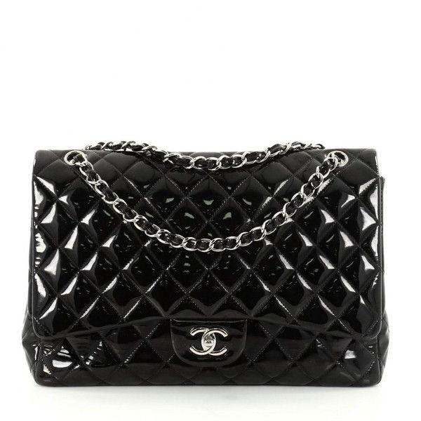 Pre Owned Chanel Black Leather Handbag 3 665 Liked On Polyvore Featuring Bags Handbags Women
