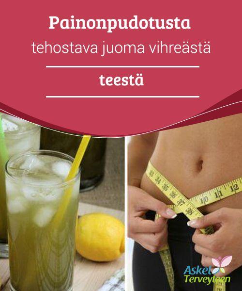 Painonpudotusta tehostava juoma vihreästä teestä  Tämä juoma on erinomainen lisä ruokavalioosi, mikäli haluat välttää voimakkaita nälän hetkiä sekä karkottaa senttejä vyötäröltäsi. Se tulisi kuitenkin yhdistää vähärasvaiseen ruokavalioon, jos haluat merkittäviä tuloksia.