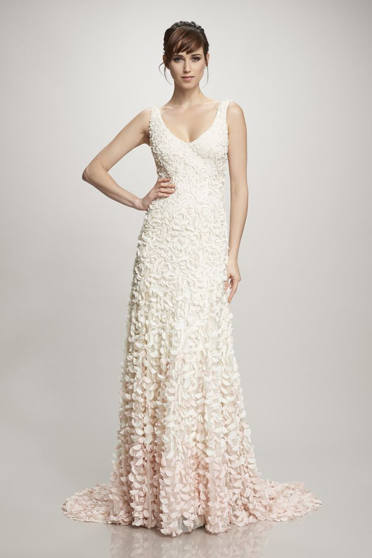 Amazing Embroidered petal fit and flare v neck gown Emma by Theia Find it at Moon and Back Bridal in Cleveland OH