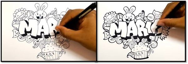 paso 4 para dibujar letras en graffiti