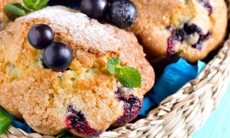 Flocons d'avoine, compote de pommes et bleuets...Un muffin parfait